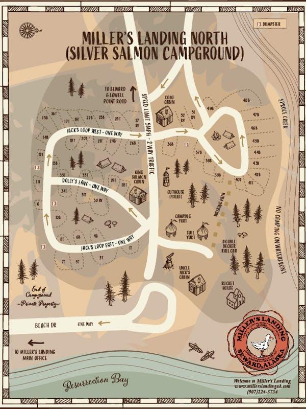ML North Campground Map