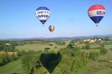 a large balloon in the air