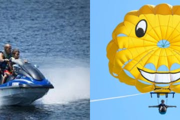 jet ski and parasail