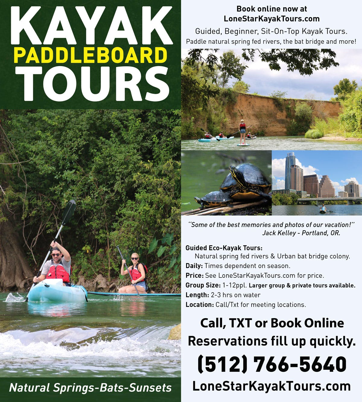 Lone Star Kayak Tours Brochure
