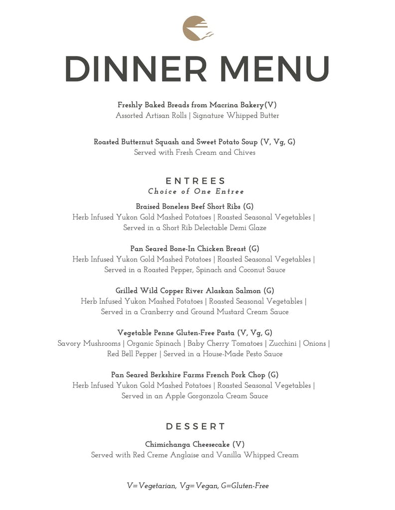 Dinner Menu for Fall and Winter