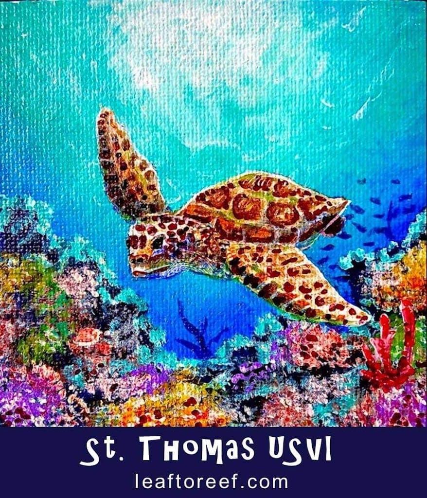 Leaf to Reef sea turtle art