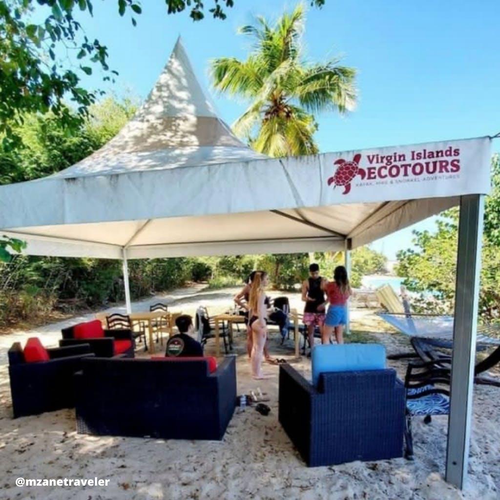 beach cabana pic St John Virgin islands