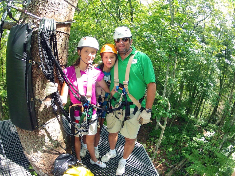 Zip line memories for the whole family