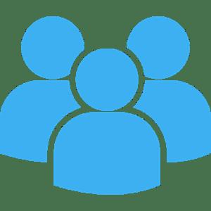 icono azul de usuarios