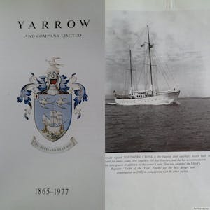 yarrow book is a red book with all yacht biult in 1962