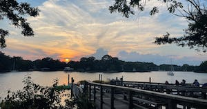 Sunset at Quiet Waters Park