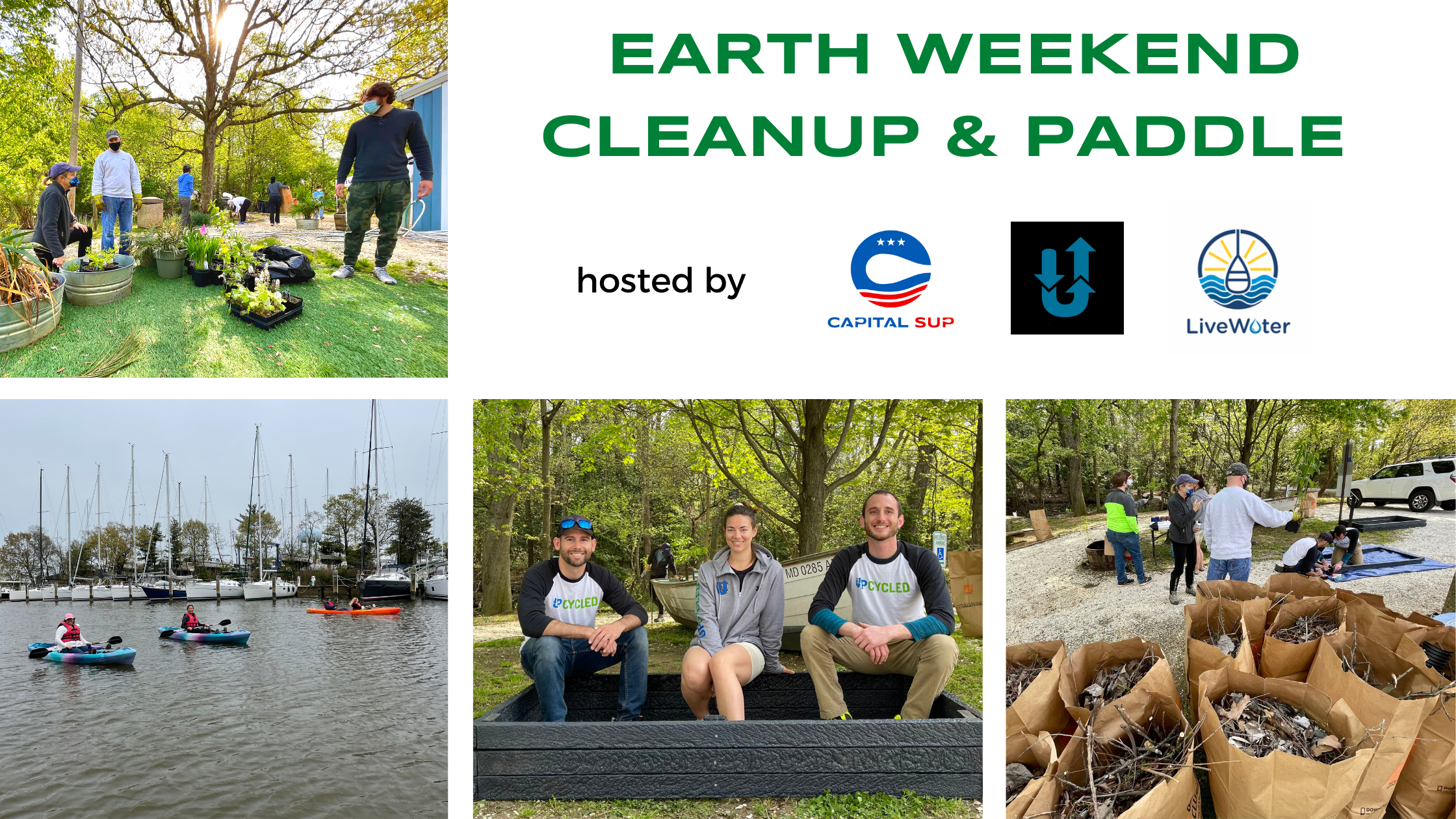 Banner: Earth Weekend Cleanup & Paddle