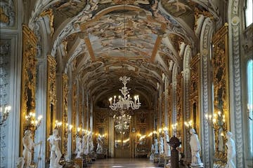 a large room with Doria Pamphilj Gallery in the background