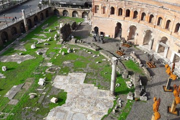 ancient rome underground overhead view