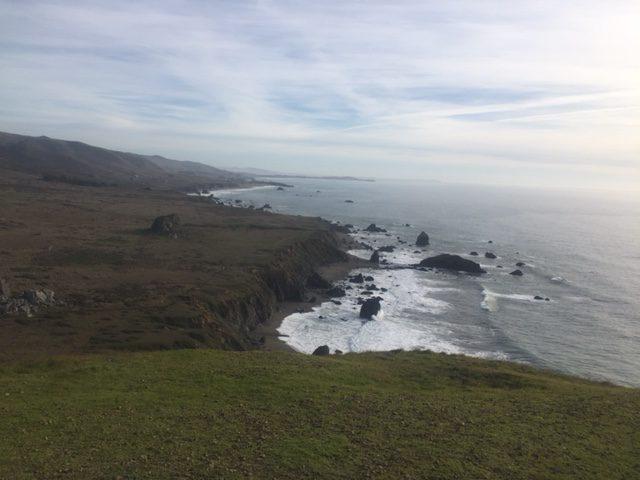 Sonoma Hike Tour Coastal view Peaked Hill South