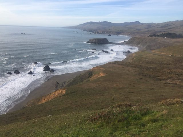 View from the Sonoma Coast's Peaked Hill on Getaway Adventures's Sonoma Coast Hike