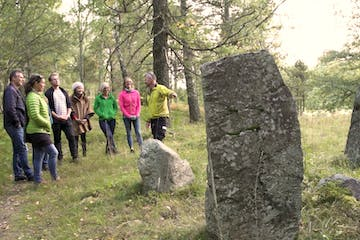 group on guided hiking tour in stockholm