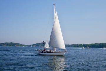 Sailing boat on the Swedish Archipelago