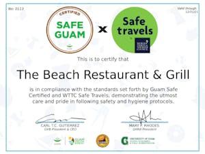 guam beach bar restaurant safe travels