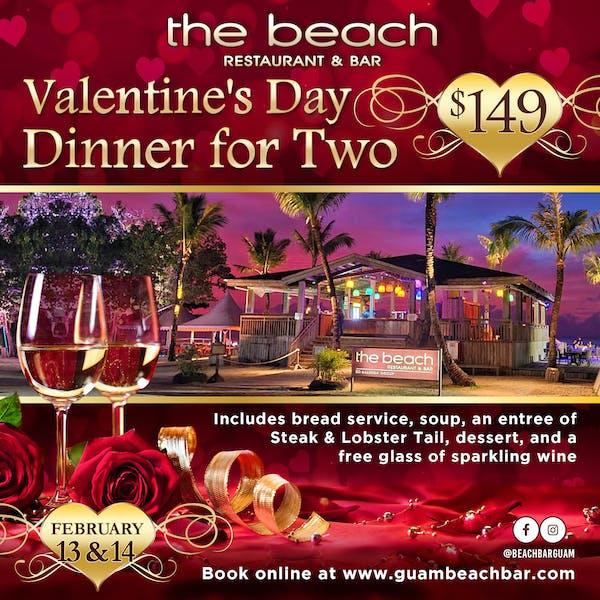 the Beach bar restaurant Guam's Valentine's Day special