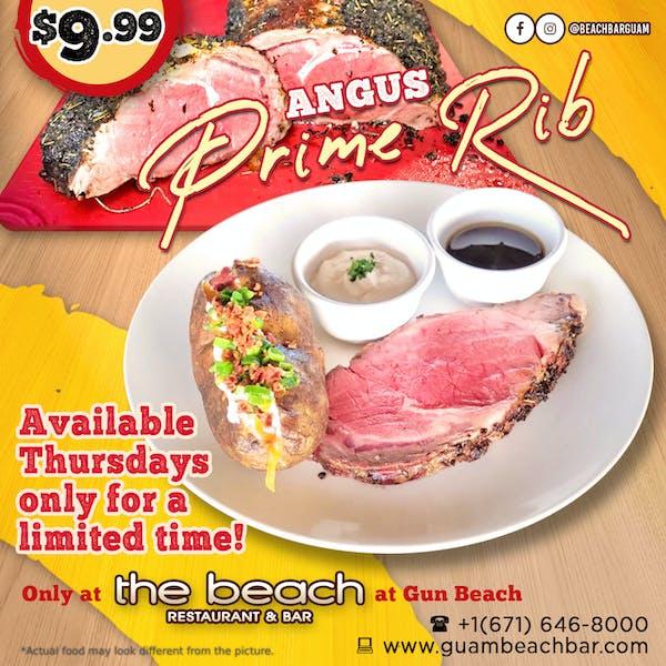 The Beach Angus Prime Rib Thursday Guam