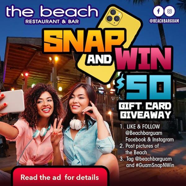 Guam beach bar snap n win contest