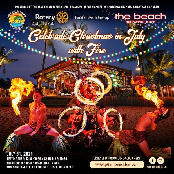 Guam The Beach Restaurant & Bar Christmas in July