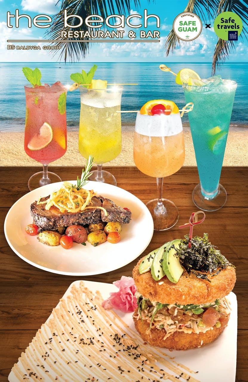 Guam beach restaurant beach bar cover menu