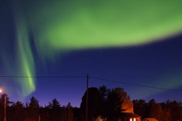 green aurora boreal in Sweden