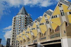 casas cubo amarillas en Rotérdam