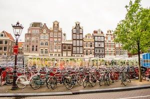 zona del Mercado de las Flores en Ámsterdam