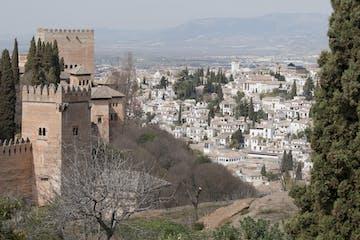 vistas del Barrio de Albaicín desde la Alhambra