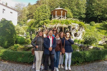 Fiona Patten et al. standing in a garden