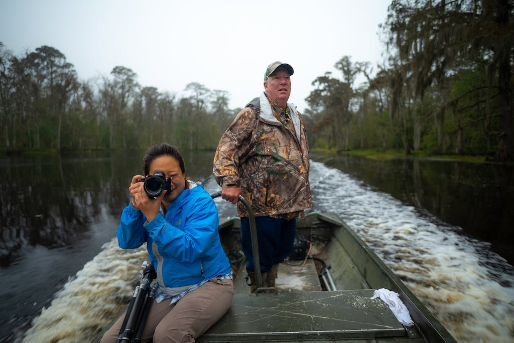 new orleans photo tour, boat photo tour, photographing the swamp