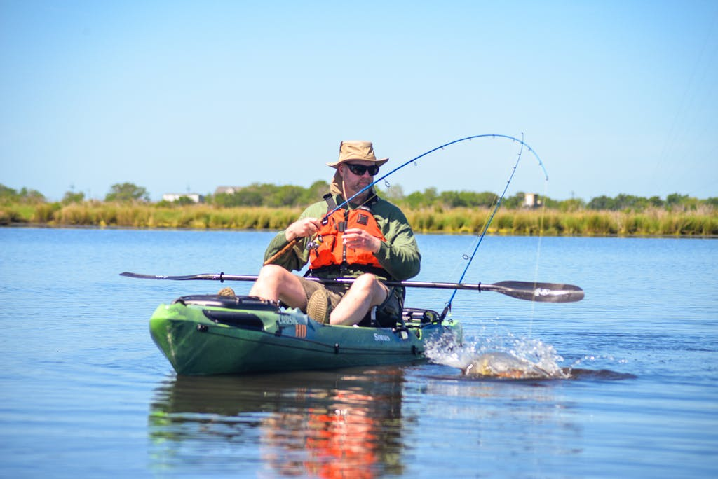 kayak fishing charter, redfishing, kayak fishing for redfish
