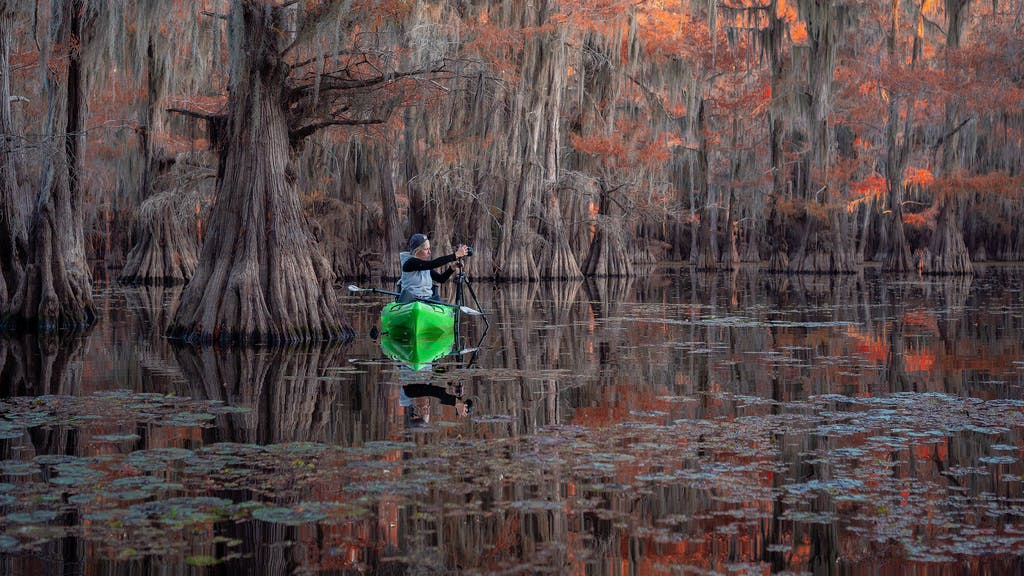 kayak, kayak photography, swamp photography