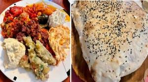 Large Mezza Platter with Lavash Bread