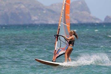 girl windsurfing