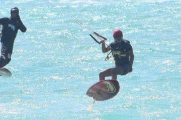 person kitefoilboarding