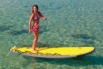 woman on sup standup paddleboard
