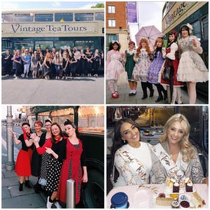 collage of different hen parties