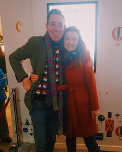 Ryan Tubridy, Karen Nixon are posing for a picture