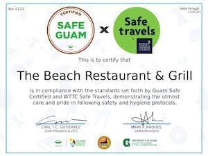 The Beach Restaurant & Bar safe travels