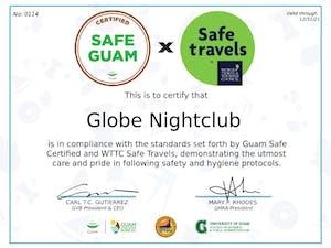globe nightclub safe travels