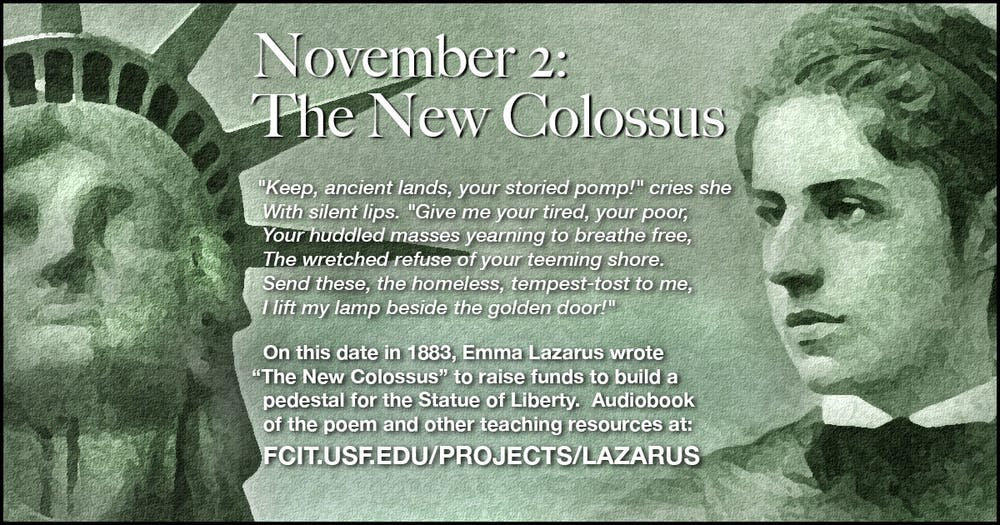 Emma Lazarus And The Brooklyn Bridge Nyc Walks