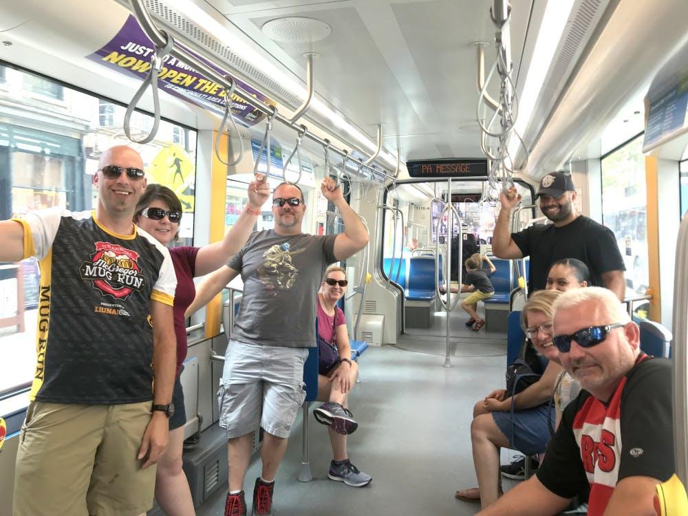 people on the Cincinnati Street Car