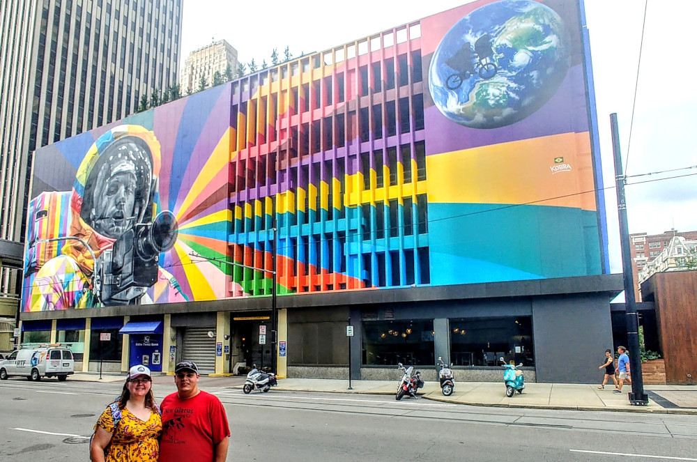 a mural of Neil Armstrong