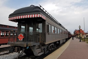 a train on a steel track