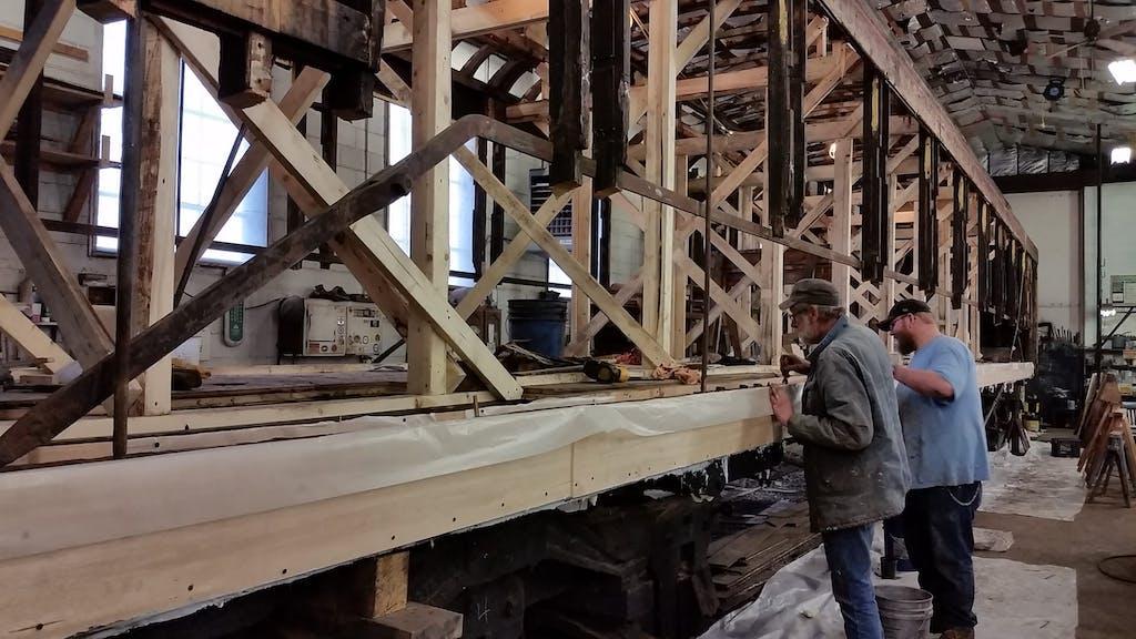 a man standing on a bridge