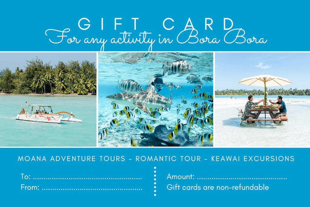 Moana Adventure Tours nominative Gift Card