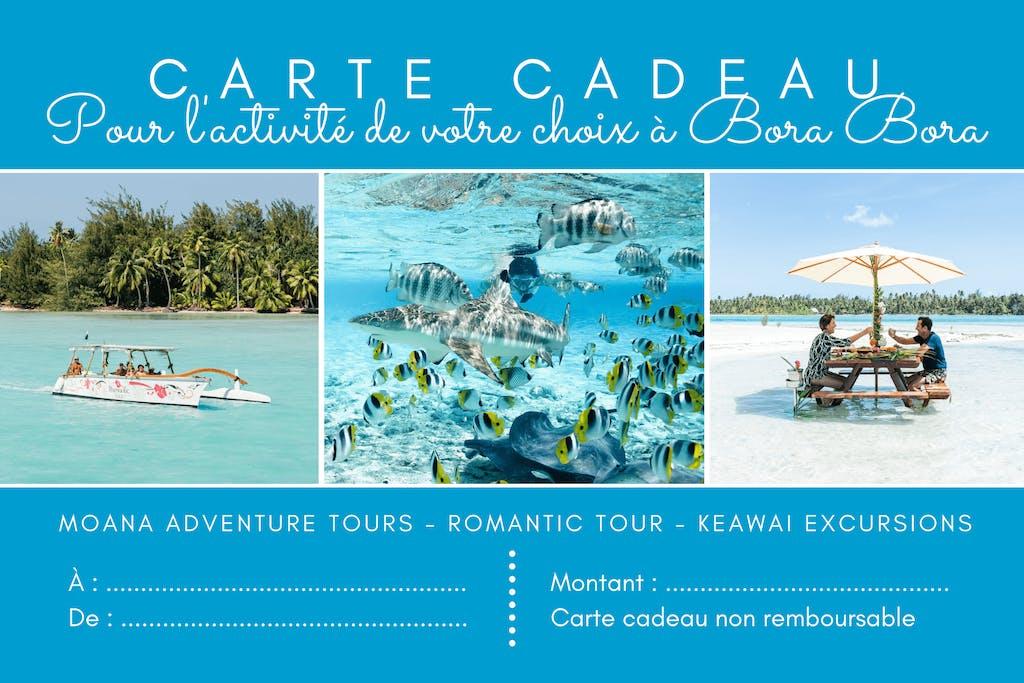 Carte cadeau nominative Moana Adventure Tours