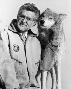Erich Klinghammer standing next to a dog