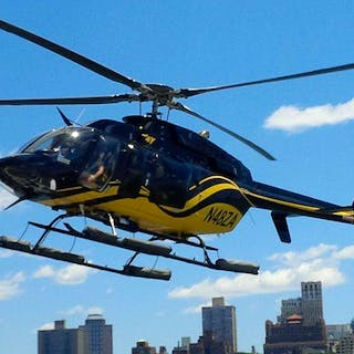 Manhattan Helicopter floating low