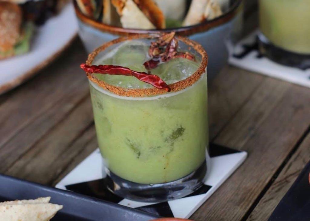 a Oaxaca cocktail with worm salt